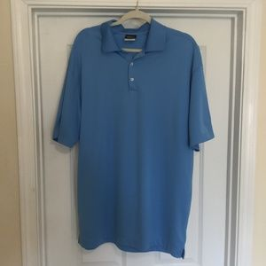 Nike Size XL Dri Fit Golf Polo Shirt Light Blue